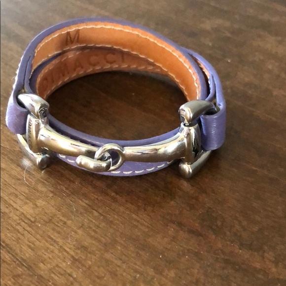 Dimacci Leather Horse Bit Bracelet
